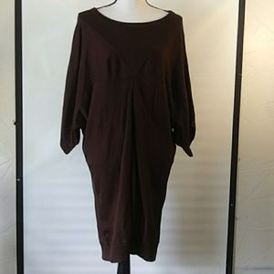 Calvin Klein sweater dress brown XL
